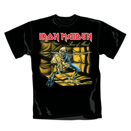 Collectors Mine Herren T-Shirt Iron Maiden-Piece of Mind, Schwarz (Schwarz), XL