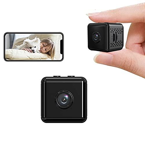 Telecamera Nascosta Mini Telecamera Spia Wifi, HD 1080P Spy Cam con Sensore di Movimento,Visione Notturna y Batteria, Spy Cam Sorveglianza Interno/Esterno, Portatile Microcamere Senza Fili Videocamera