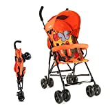LuvLap Tutti Frutti Stroller/Buggy, Compact & Travel Friendly, for Baby/Kids, 6-36 Months (Orange)