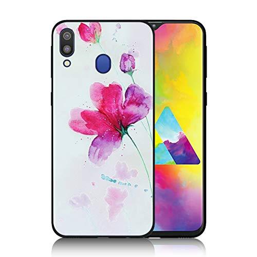 DAYNEW Voor Samsung Galaxy M20 Hoes, Zachte TPU Siliconen Chic reliëf Schilderij Vernis Proces Anti-Slip Beschermende Back Case Voor Samsung Galaxy M20-#004