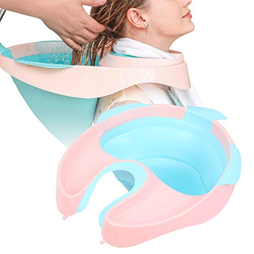 Lavado de cabello portátil Tazón de champú Kit de lavado de cabello Lavabo de champú Bandeja de lavado de cabello para el hogar para mujeres embarazadas Niños mayores