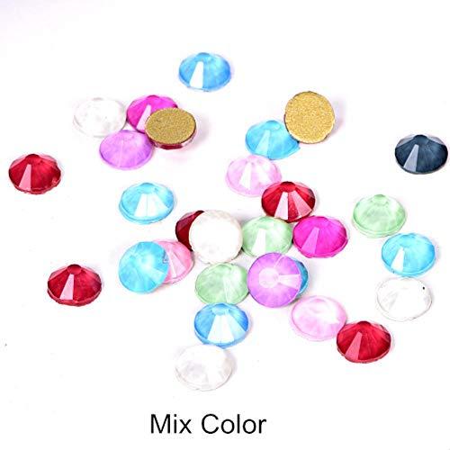 PENVEAT 144 stücke SS20 Mix Mokka Farbe Nicht Hot Fix Strass Kleber Auf Nail Art Strass Flatback Glas Strass für Nagel Dekoration, mischen Farbe