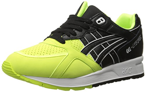 ASICS GEL Lyte Speed Retro Running Shoe, Safety Yellow/Black, 11 M US