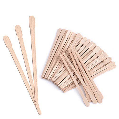 Mibly Wooden Wax Sticks - Eyebrow, Lip, Nose Small Waxing Applicator Sticks for Hair Removal and Smooth Skin - Spa and Home Usage (Pack of 200)