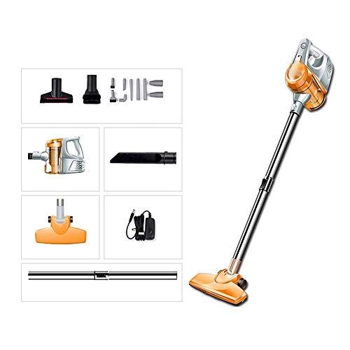 Cordless vacuum cleaner Vacuum cleaner - Multi-purpose household wireless push rod handheld light rechargeable vacuum cleaner, Powerful handheld vacuum cordless (Color : Pink) ( Color : Orange )