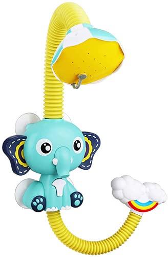 WolinTek Duschkopf Kinder, Baby Badewannenspielzeug Wasser Dusche Badespielzeug, Elefant Wasserpumpe Bad Duschkopf Ausgießer Wasserspielzeug Mit Saugnapf,Baby Wasserspray Spielzeug Für Kinder