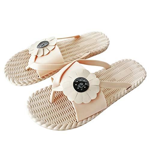Chanclas Mujer Blancas Baratas Verano Planas Zapatos de Playa y Piscina Niña 35-40