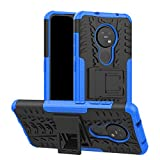 betterfon | Nokia 6.2/7.2 Hülle Outdoor Handy Tasche Hybrid Hülle Schutzhülle Panzer TPU Silikon Hard Cover Bumper für Nokia 6.2/7.2 Blau