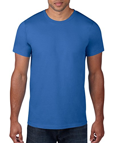 Anvil - T-Shirt - Manches 1/2 - Homme - Bleu (RYL-Royal) - FR : 50 (Taille fabricant : M)
