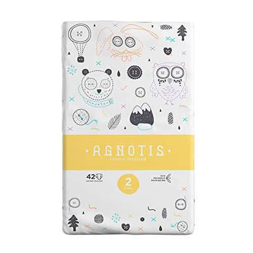 AGNOTIS - 210 Baby Windeln Größe 2 für Babys 3-6 kg | mit hervorragendem Auslaufschutz und Feuchtigkeitsindikator | dermatologisch getestet |5 PKg x 42 Windeln, 0,15€ Stk.