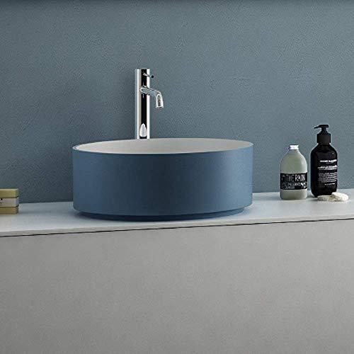 ARLEXITALIA AC0100182OLC Waschbecken, mattweiß mit farbigem Außenmaterial