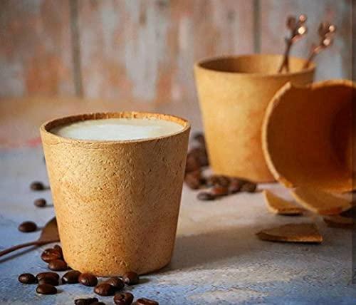 Tazza da caffè commestibile, tazza utilizzata per bevande calde o fredde, regali di caffè, regali vegani