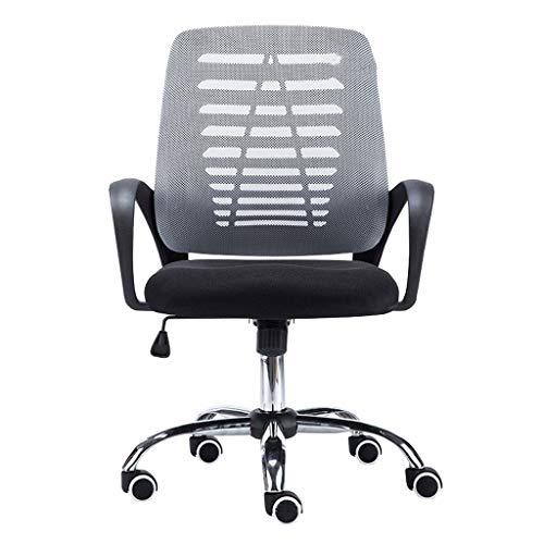 Computerstoel, bureaustoel op wieltjes Executive mesh stoel ergonomische comfort stoel geschikt voor thuis/kantoor grijs