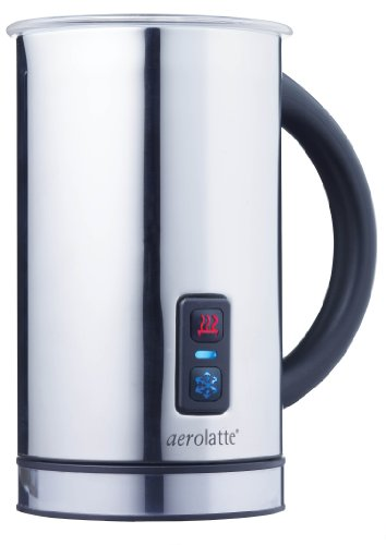 aerolatte Compact Automatic Hot or Cold Milk Frother and Cappuccino Foam Maker, Stainless Steel, 11.5-Ounce