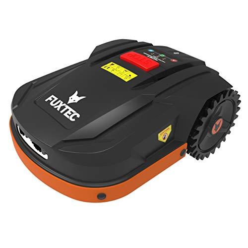 Fuxtec Mähroboter FX-RB022 Akku Rasenmäher ideal zum mähen von Flächen bis 800m² - auch bei Regen,Gewicht 15kg,Steuerung(Auto/manuell) per App(IOS&Android) über WiFi möglich