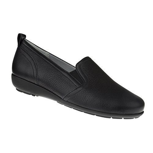 Natural Feet Damen Slipper Clara | Echtes Hirschleder | Weite H | Hallux geeignet 39 schwarz