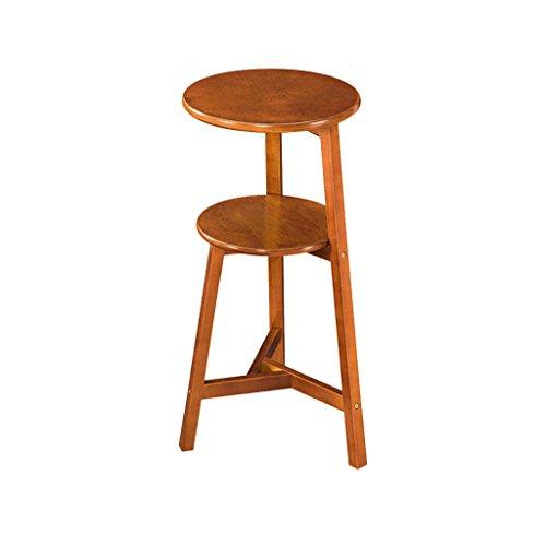 FL- Table d'appoint de salon en bois massif en bois massif (Couleur : Brown, taille : 75cm)