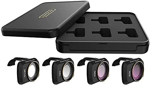 Prodrocam - Filtro obiettivo per DJI Mini 2 per DJI Mavic Mini Drone, kit filtro profesionale (CPL+MCUV+ND4+ND8)