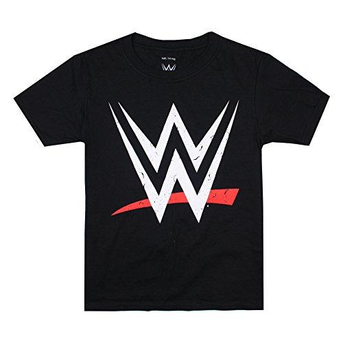 WWE Jungen Logo T-Shirt, Schwarz, 7-8 Jahre