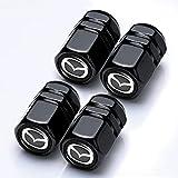 4 Pezzi Tappi Valvola Pneumatici per Mazda 3 6 CX-3 CX-5 CX-9 MX-5, Auto Coprivalvola Pneumatici, Coperchio Ermetico Antipolvere Accessorio Esterno