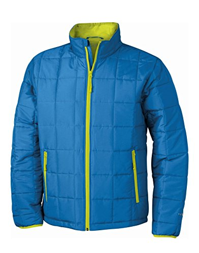 2Store24 Men's Padded Light Weight Jacket in Aqua/Lime-Green Size: L