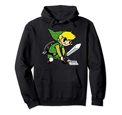 Zelda The Wind Waker Link Symbol Fill Pullover Hoodie
