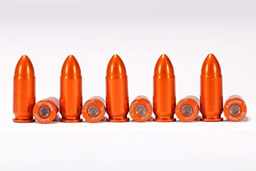 A-ZOOM 9MM Luger SNAP Cap, Orange