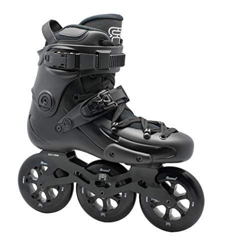 FR Skates FR1 310 Black 2019-3 Wheel Frames and 110 mm Wheels Inline Skates for Freeride, Slalom, City Skating. Popular French Brand (M US 11.5 / EU45)