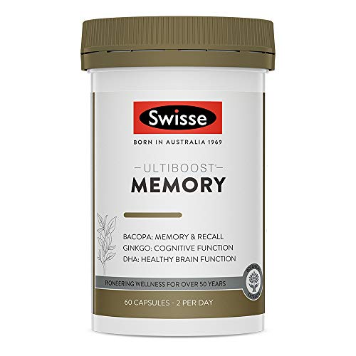 Swisse Ultiboost Memory Tablets| Mental Performance Support | 60 Capsules