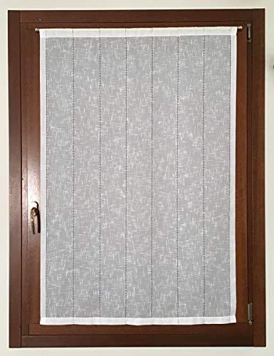 A - cm 40 mauro Binario Completo per Tende a Pannello a Finestra-Larghezza da cm 40 a 100 Profilo velcrato+Supporti Senza forare+Peso
