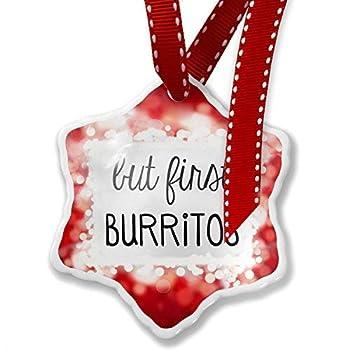 Delia32Agnes Novelty But First Burritos Personalized Christmas Ornaments Ceramic Idea