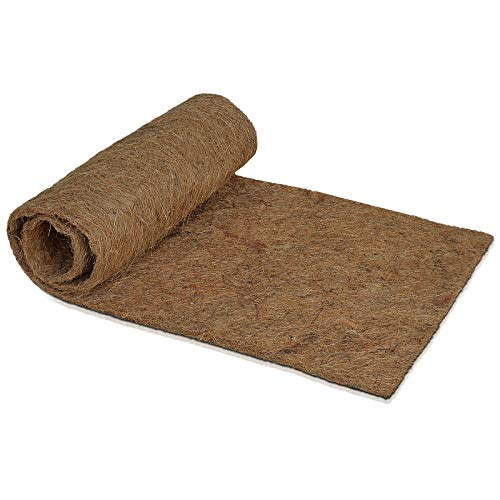Kokosmatte für Pflanzen - 0,5 x 1,5 m - luft- & wasserdurchlässig - Kokos Filzmatte als Winterschutz Frostschutz Kälteschutz Wurzelschutz - zum Überwintern von Topfpflanzen Kübelpflanzen