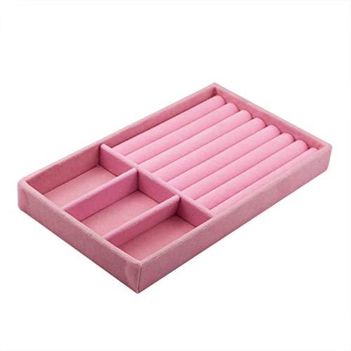 NIKEC Organizador de pendientes y pendientes de terciopelo rosa