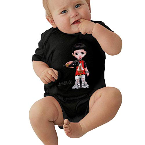 Body de bebé de Manga Corta Unisex Anuel AA Newborn Baby Keep Warm Breathable Printed Rompers Baby Short Sleeve Jumpsuit
