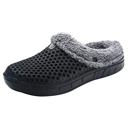 TWIFER Zapatillas de casa Mujer Caliente Zuecos Unisex Adulto Acoplamiento Otoño Invierno Animados Pareja Zapatos Calzado Interior Suaves Elegantes sin Ruido