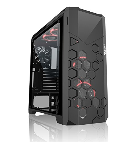 Mordaxt Storm 6000b Tower Black Computer Case – Computer Cases (Full-Tower, PC, ATX, Micro-ATX, Black, Red/Green/Blue, 17.5 cm)