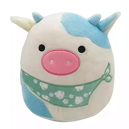 CHENSTAR 20 cm söt 3D-kudde mjuk midja dyna plysch fylld leksak dekoration gåva (ko) kudde mjuk midja dyna plysch fylld leksak