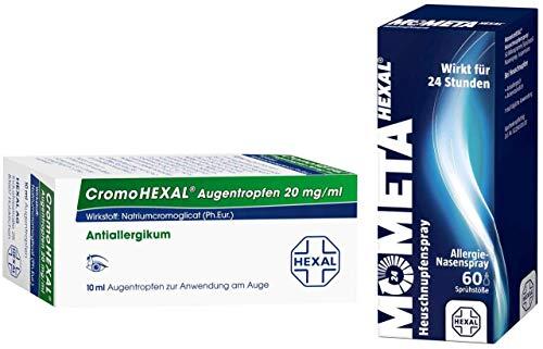 Sparset Allergie Cromohexal 10 ml Augentropfen + Mometahexal Heuschnupfenspray 50 µg 60 Sprühstöße 1 Set