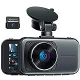 """Cámara de Coche 4K UHD Dashcam, 3"""" Dual Dash CAM 310° Grados de Amplio Ángulo, Supercondensador con Modo de Estacionamiento, Visión Nocturna por Infrarrojos, Grabación de Bucle, G-Sensor"""