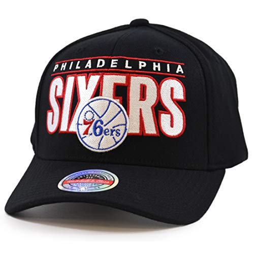 Mitchell & Ness Billboard Redline Philadelphia 76ers - Gorra, color negro