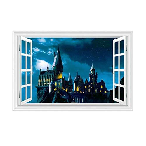 Adhesivos de pared de PVC autoadhesivos de pared, diseño de Harry Potter