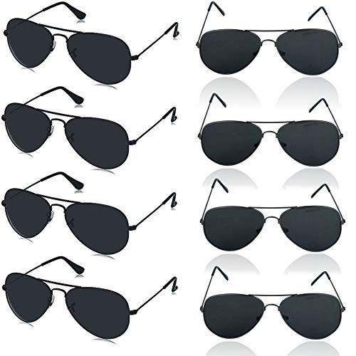 German Trendseller® - 6 x Sonnebrille - Piloten Brille - Deluxe Design ┃ UV 400 Protection ┃ CE ┃ Versand aus Deutschland ┃ 6 Sonnenbrillen