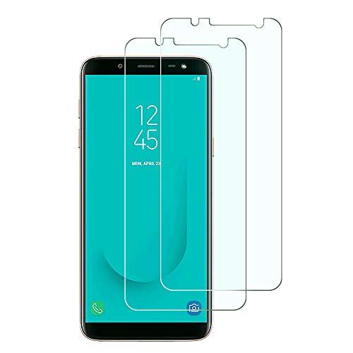 Widamin 2Pack, Kompatibel mit Galaxy J6 2018 Panzerglas, Displayschutzfolie, Hohe Auflösung Glas, [9H Härte], [Crystal Clearity], [Kratzfest], [No-Bubble] für Samsung Galaxy J6 2018