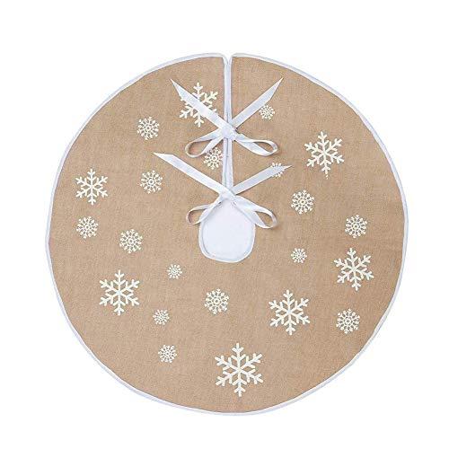 Meiwash Weihnachtsbaum Rock Runde Abdeckung Weihnachtsbaum Bodenabdeckung Bodenmatte Ornamente Faltbar Matte Weihnachts Teppich Neujahrsfeiertage Party Dekoration (Apricot, 80cm)