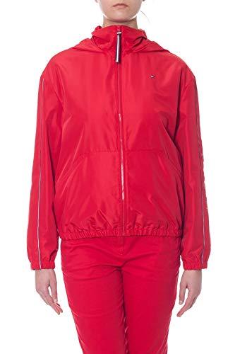 Tommy Hilfiger - Chaqueta cortavientos para mujer roja con capucha. rojo S