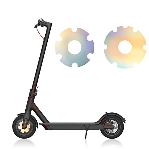 TOMALL Scooter Reflectante Moto Pegatina Impermeable Reflectante Pegatinas de Rueda compatibles con Accesorios de decoración de Scooter eléctrico M369