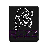 マウスパッド ゲーミング オフィス 最適 Rezz レズ Dj シルエット 防水 滑り止め おしゃれ レーザー&光学式マウス対応 軽量 便利 水洗い ポリエステル 耐熱 高耐久性 耐摩耗 高級テクスチャ 在宅 勤務 四角形 縦 25cm*30cm