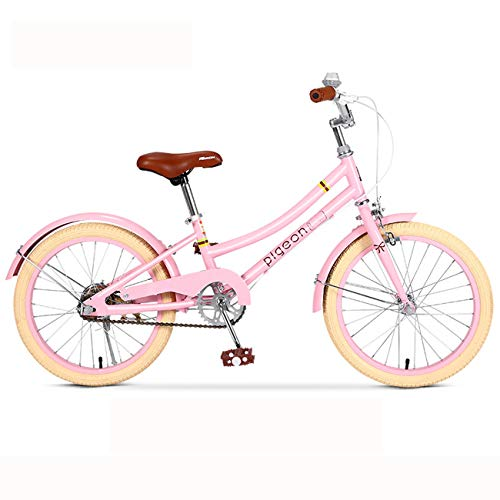 JMSL Biciclette da 16 Pollici 18 Pollici 20 Pollici Biciclette da Donna Biciclette da Donna 6-12 Anni Biciclette, Bambini, Studenti, Ragazze, Modelli della Principessa-Pink,Kids' Bike,18inch