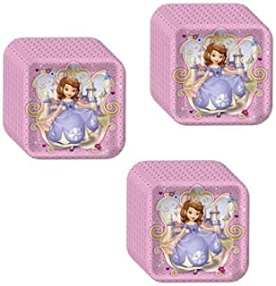 Sofia The First Princess Birthday Party Supplies Bundle Pack Includes Lunch Plates - Serves 24