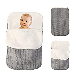 40%OFF Newborn Baby Swaddle Blanket Wrap, Thick Baby Kids Toddler Knit Soft Warm Fleece Blanket